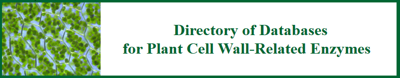 Directory of databases for plant cell wall-related enzymes