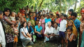 Dr. Ronald with Bangladeshi villagers