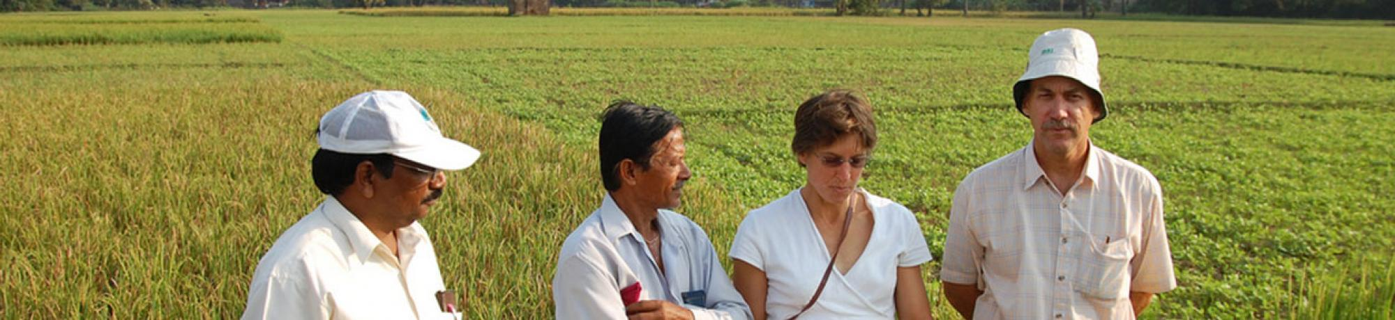 Dr. Ronald and farmers in Bangladesh